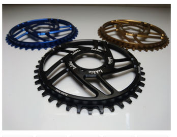 7075-T6 Aluminium Color Anodized Race Wajah 104mm Single Chain Ring 4mm Plat Ketebalan